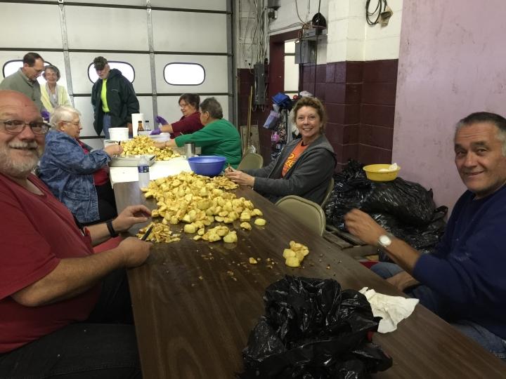 Preparing for The Apple Butter Festival