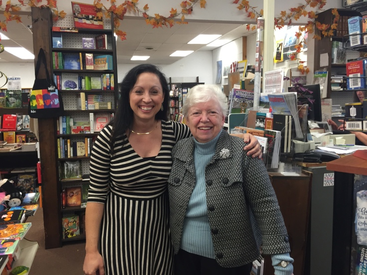 Tina Stephens with Betsy Rider at the Otto Bookstore in Williamsport, PA.